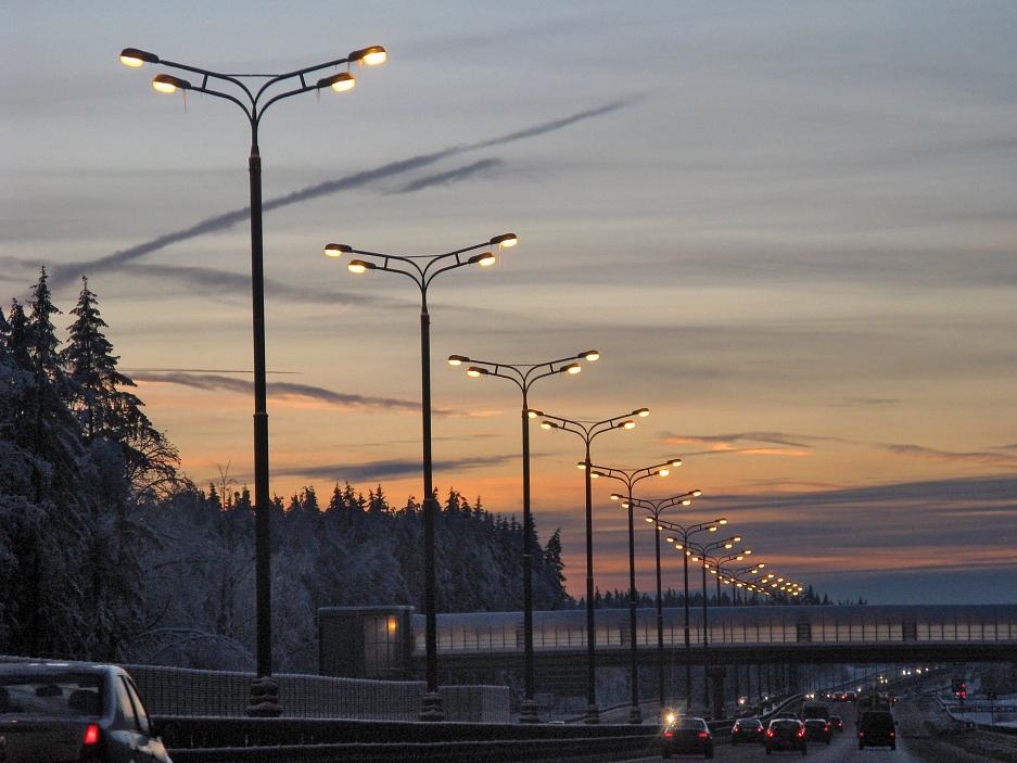 "фото ""December on road"" метки: путешествия, пейзаж, Европа, закат"