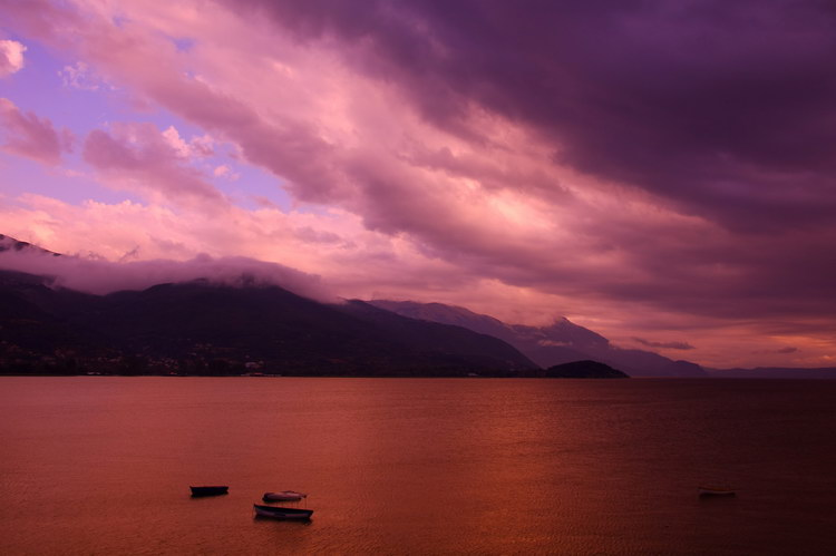 "photo ""Ohrid Lake"" tags: landscape, clouds"