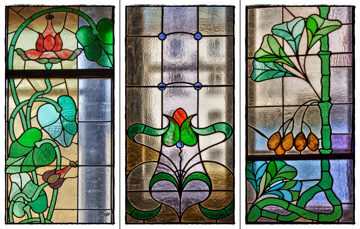 "photo ""stained Glass Windows"" tags: fragment, misc.,"