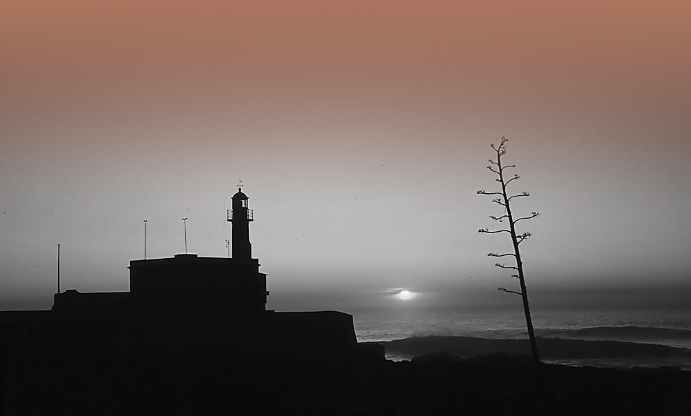 "photo ""The Lighthouse"" tags: landscape, sunset, water"