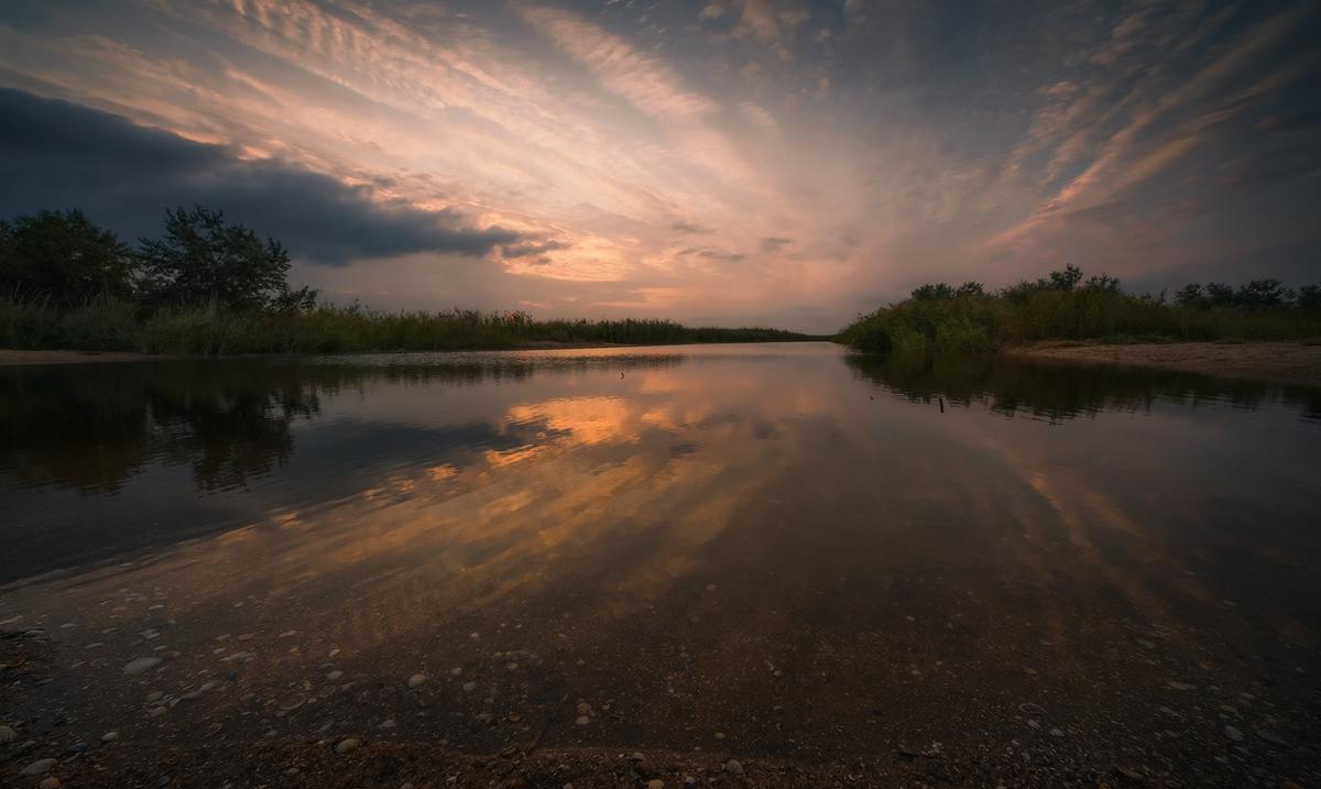 """фото """"Зеркальный мир"""" метки: пейзаж, закат"""