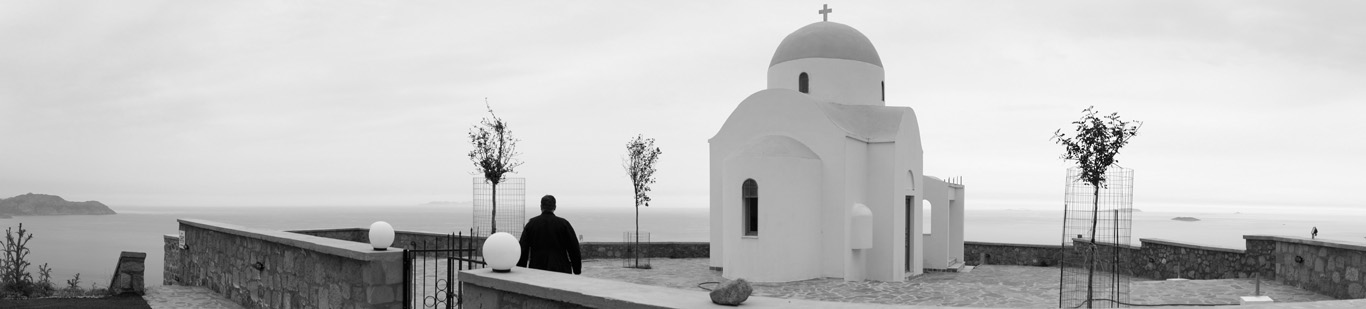 "фото ""The chapel of Profitis Ilias at Nisyros Volcano"" метки: архитектура, пейзаж, горы"