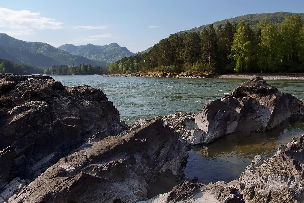 "фото ""Река Катунь"" метки: пейзаж, вода"