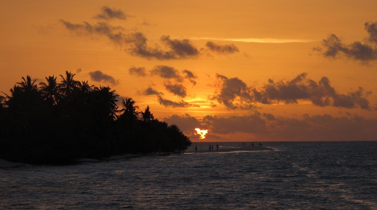 "photo ""Sunset in Maldives"" tags: landscape, travel, Asia, sunset"