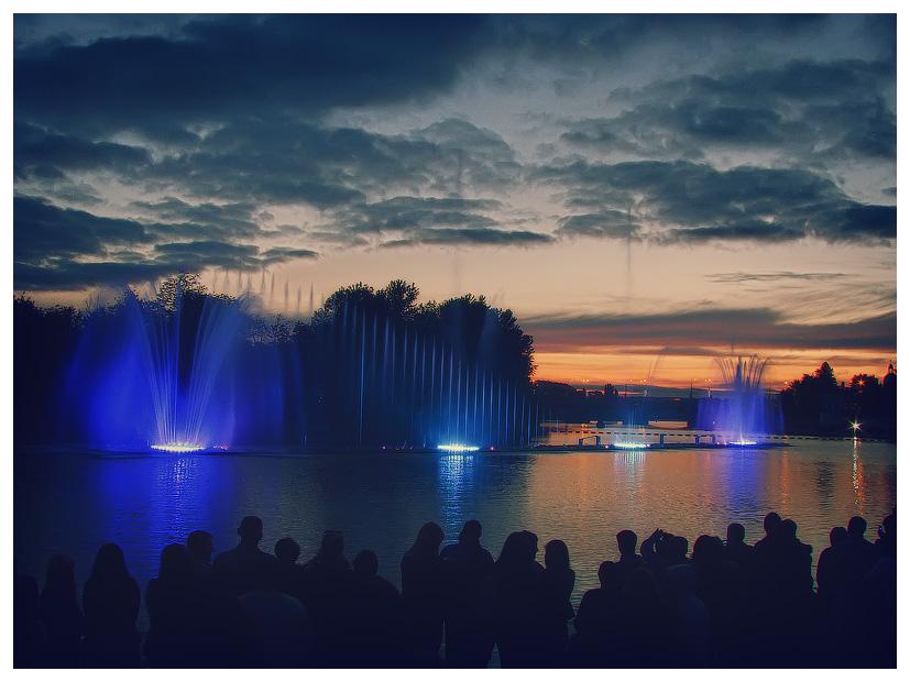 "фото ""Fountain Roshen"" метки: город, репортаж, фонтан Roshen Винница"