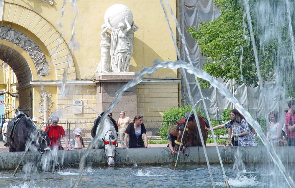 """фото """"Водопой у Адмиралтейства"""" метки: жанр,"""