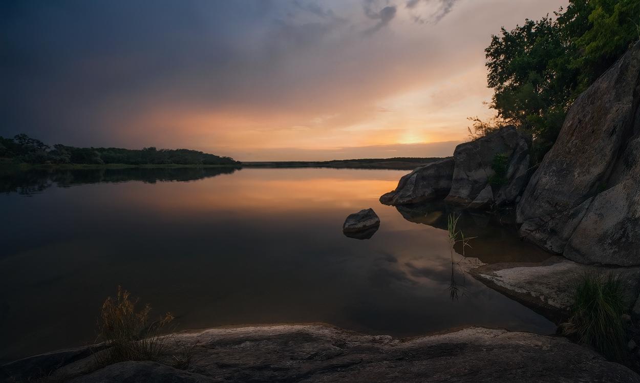 """фото """"Июньским вечером на Берде"""" метки: пейзаж, закат"""