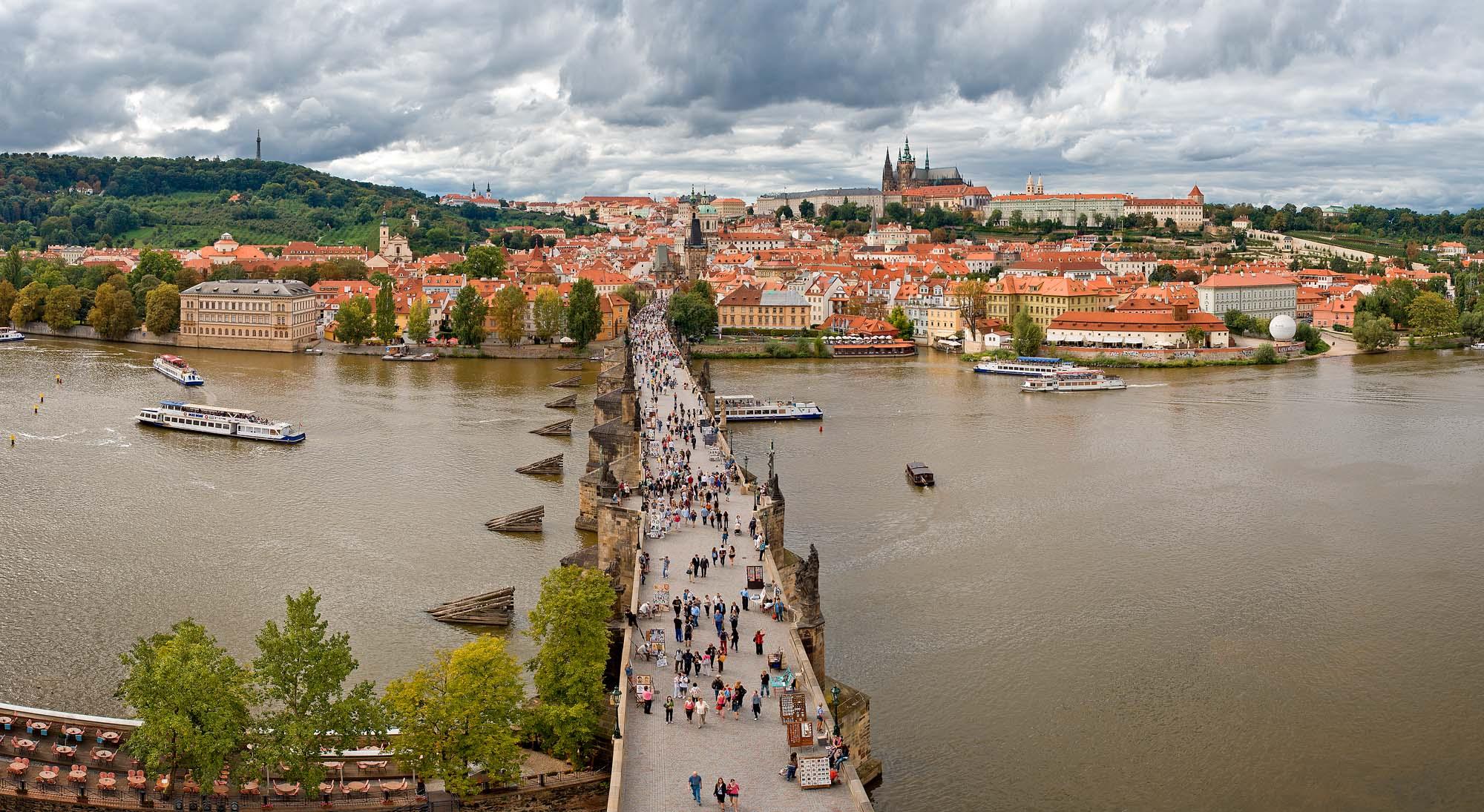 """фото """"Прага Карлов мост"""" метки: панорама,"""