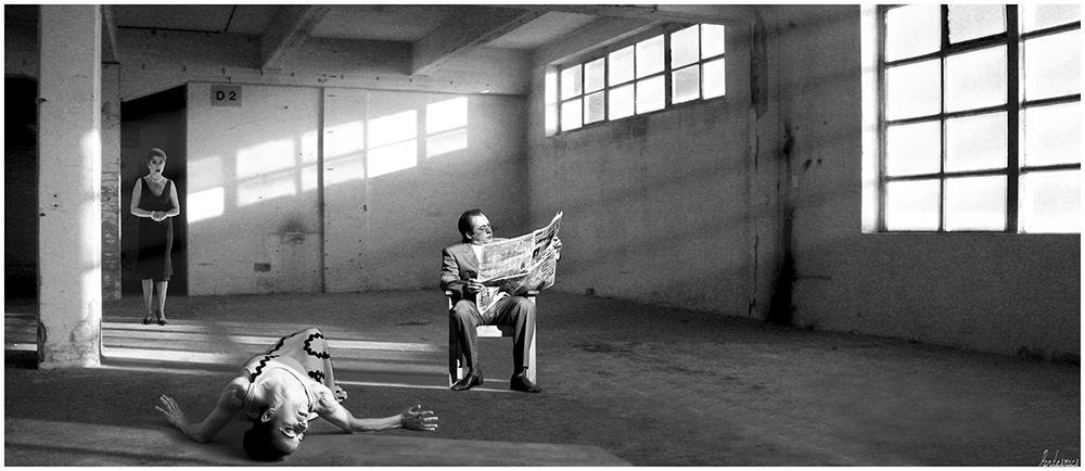 "photo ""***"" tags: digital art, black&white,"