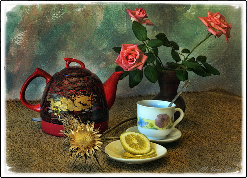 "photo ""Tea with a lemon"" tags: still life,"