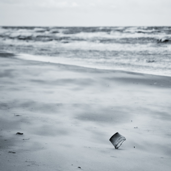 "photo ""the sea II"" tags: landscape, black&white, water"