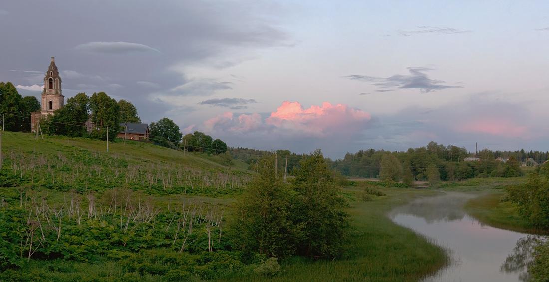 """фото """"Вечер в Ивойлово"""" метки: пейзаж, закат"""