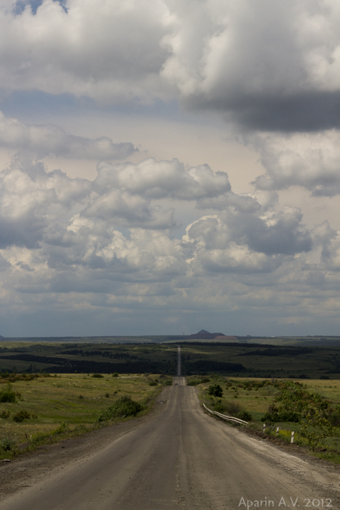 "photo ""Road to heaven"" tags: landscape, clouds"