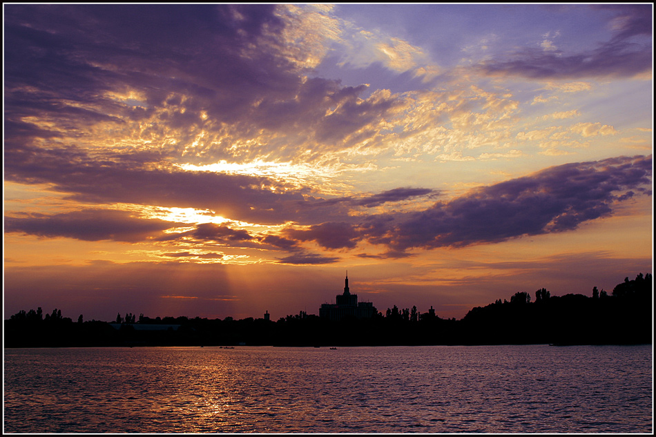 "photo ""***"" tags: landscape, Bucharest, lake, sunset, water"