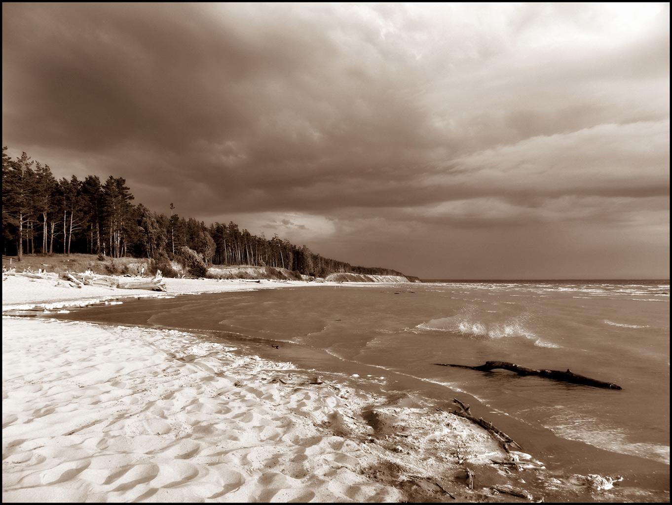 """фото """"Слом погоды"""" метки: пейзаж, черно-белые,"""