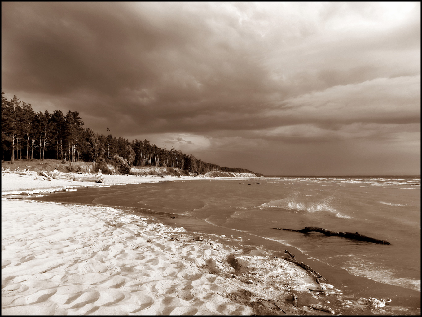 "photo ""Weather demolition"" tags: landscape, black&white,"