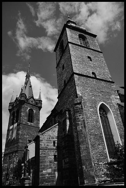 "фото ""Две башни"" метки: черно-белые,"
