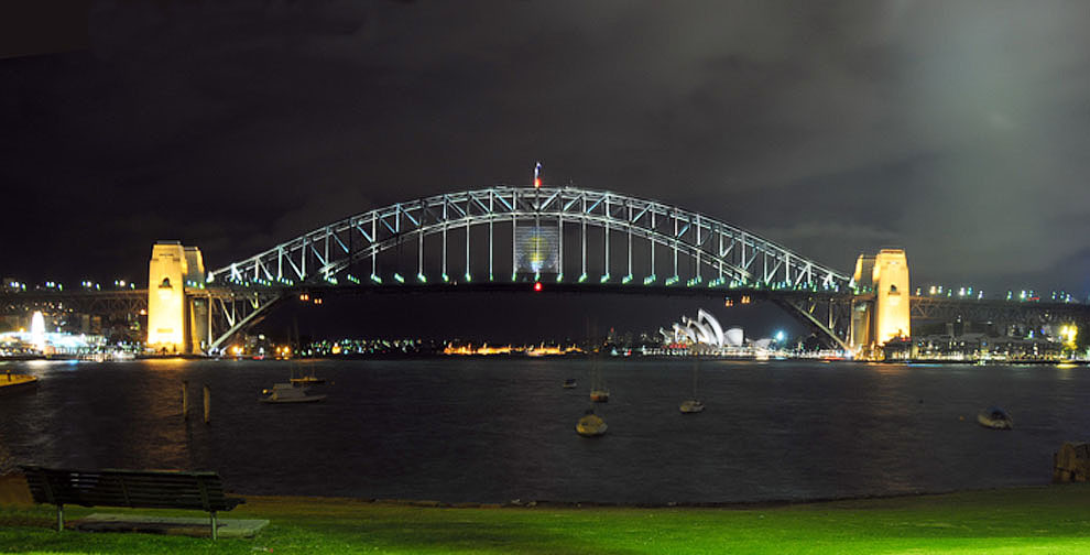 "photo ""Sydney Harbour Bridge"" tags: landscape, architecture,"