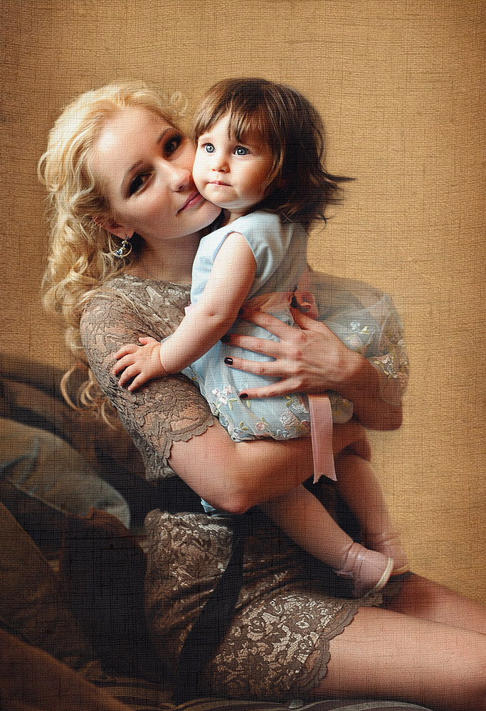 """фото """"Красота, умноженная на два...."""" метки: портрет, дети, женщина"""