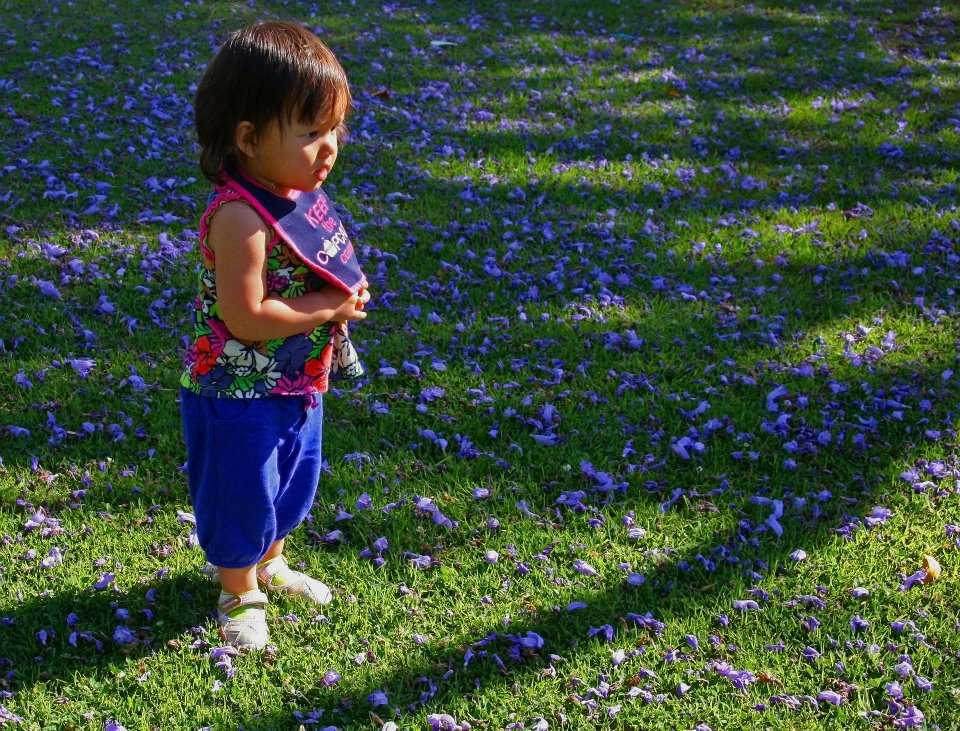"photo ""Emi In Blue"" tags: portrait, children"