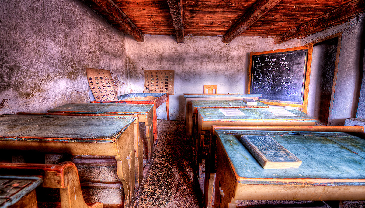 "photo ""Old Schoolroom....."" tags: architecture, landscape,"