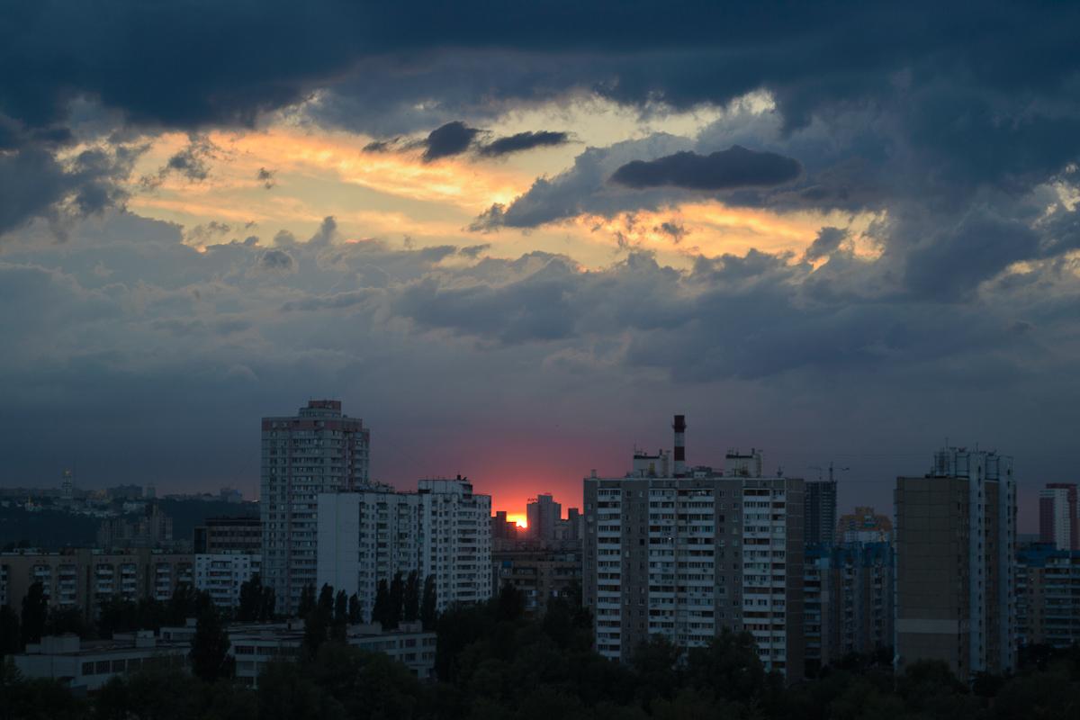 "фото ""Краски заката"" метки: пейзаж, город, закат"