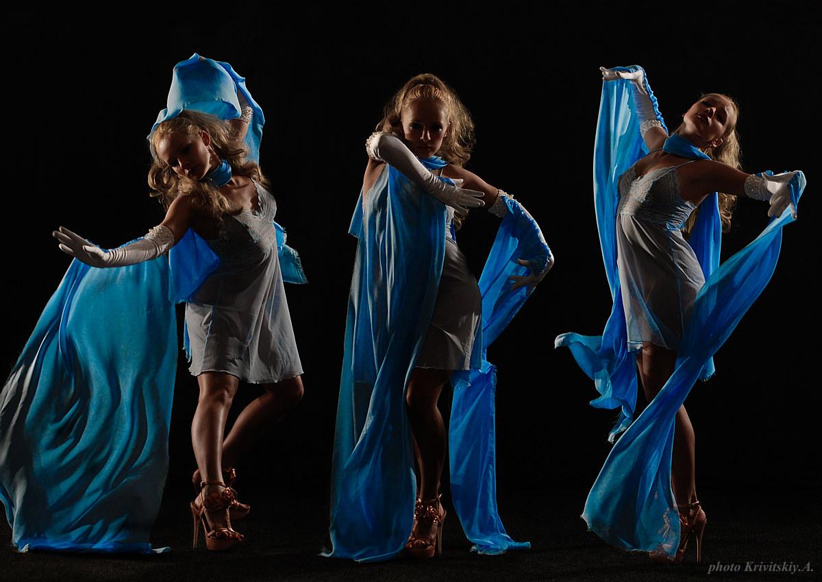 """фото """"Танец. Фото А.Кривицкий. Актриса К. Кучинская"""" метки: портрет, фотомонтаж, женщина"""