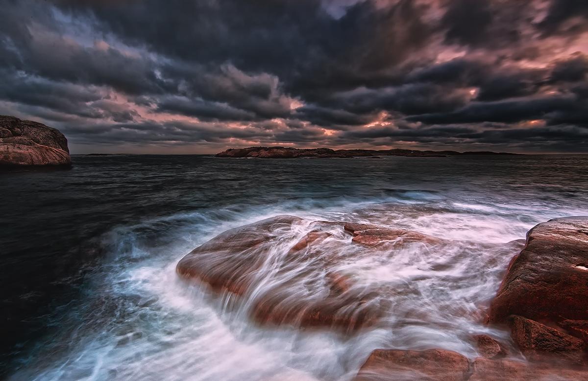 "фото ""Smøgen....."" метки: пейзаж, вода, закат"