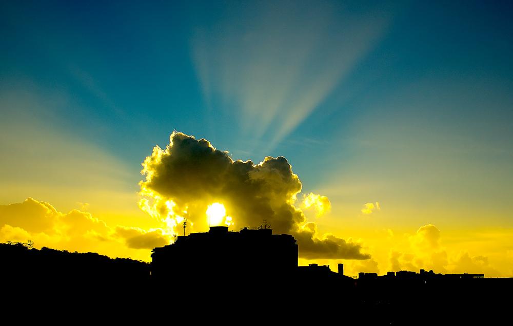 "фото ""My Window"" метки: пейзаж, закат, облака"