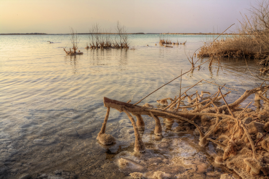 "photo ""Sunrise on Dead Sea"" tags: landscape, water"