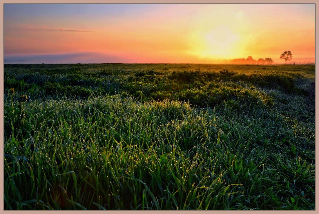 """фото """"Утро зажигает..."""" метки: пейзаж, закат"""