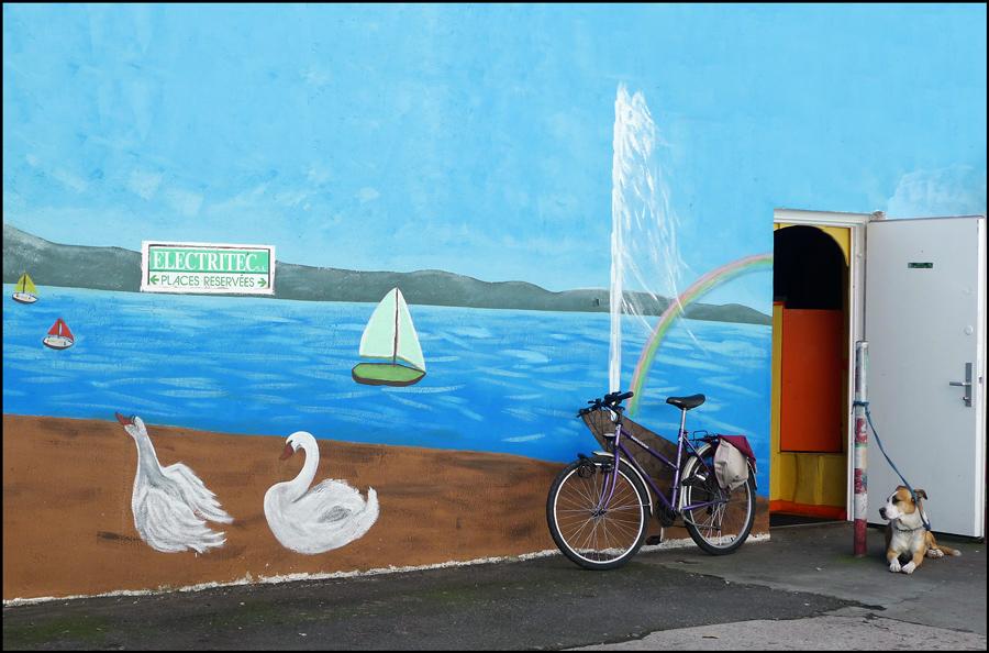 """фото """"Вход в Женевское озеро"""" метки: город,"""