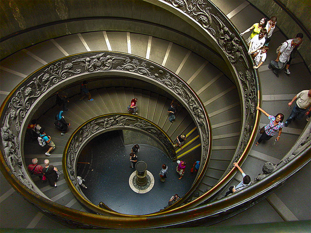 "photo ""Stairs of Vatican"" tags: travel, Europe"