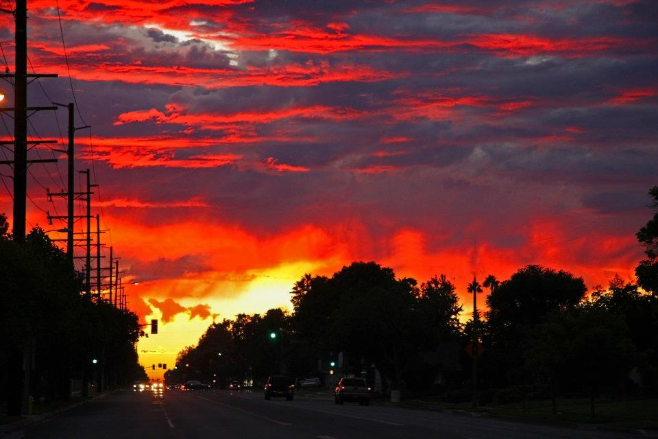"photo ""8th Street Sunset"" tags: landscape, sunset"
