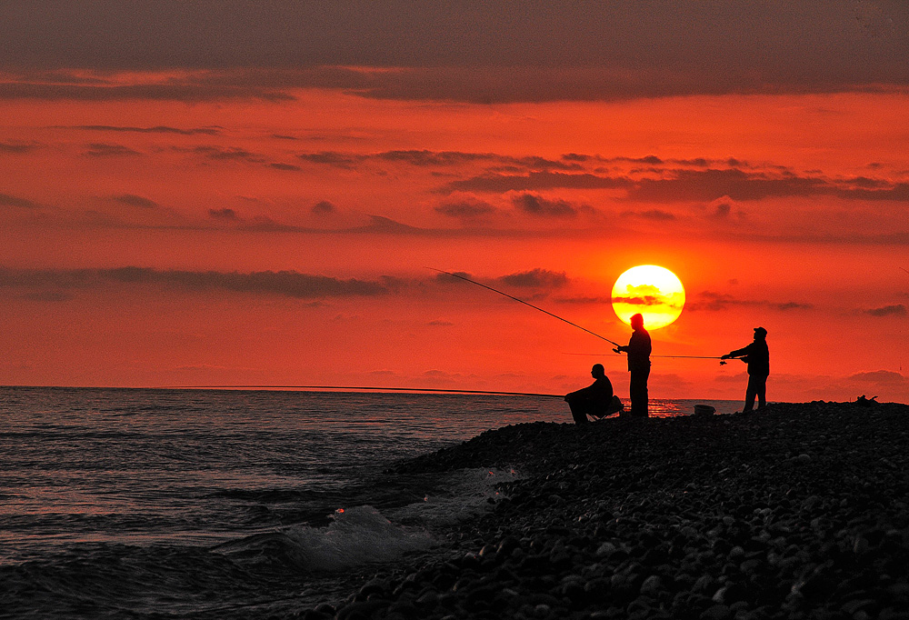 "фото ""Рыбалка..."" метки: пейзаж, вода, лето"