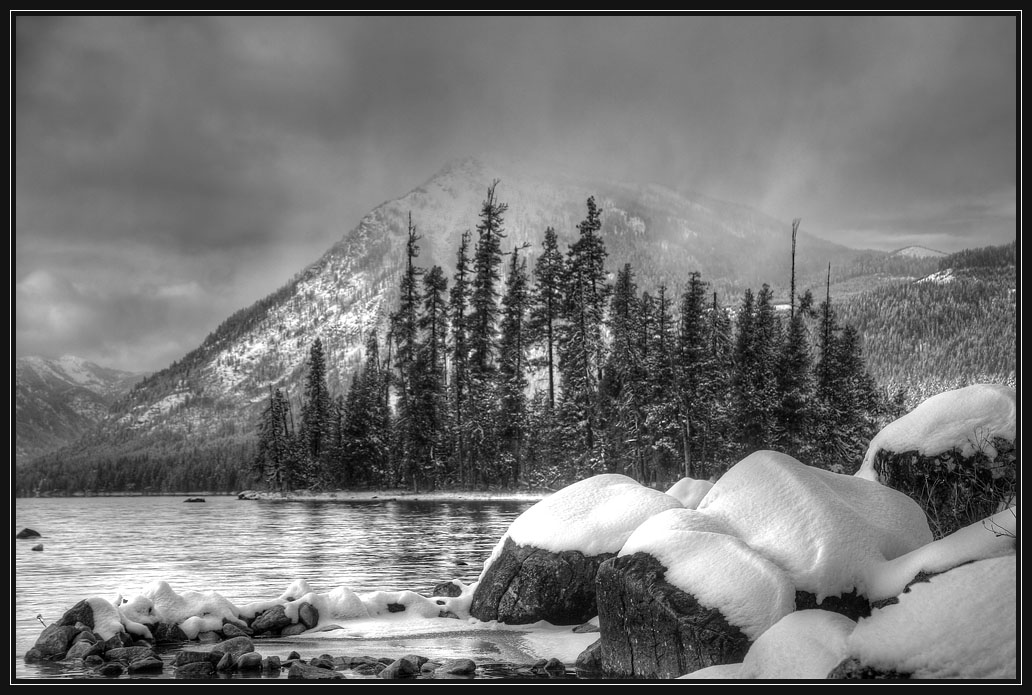 "photo ""Mountain snowstorm"" tags: landscape, mountains, winter"