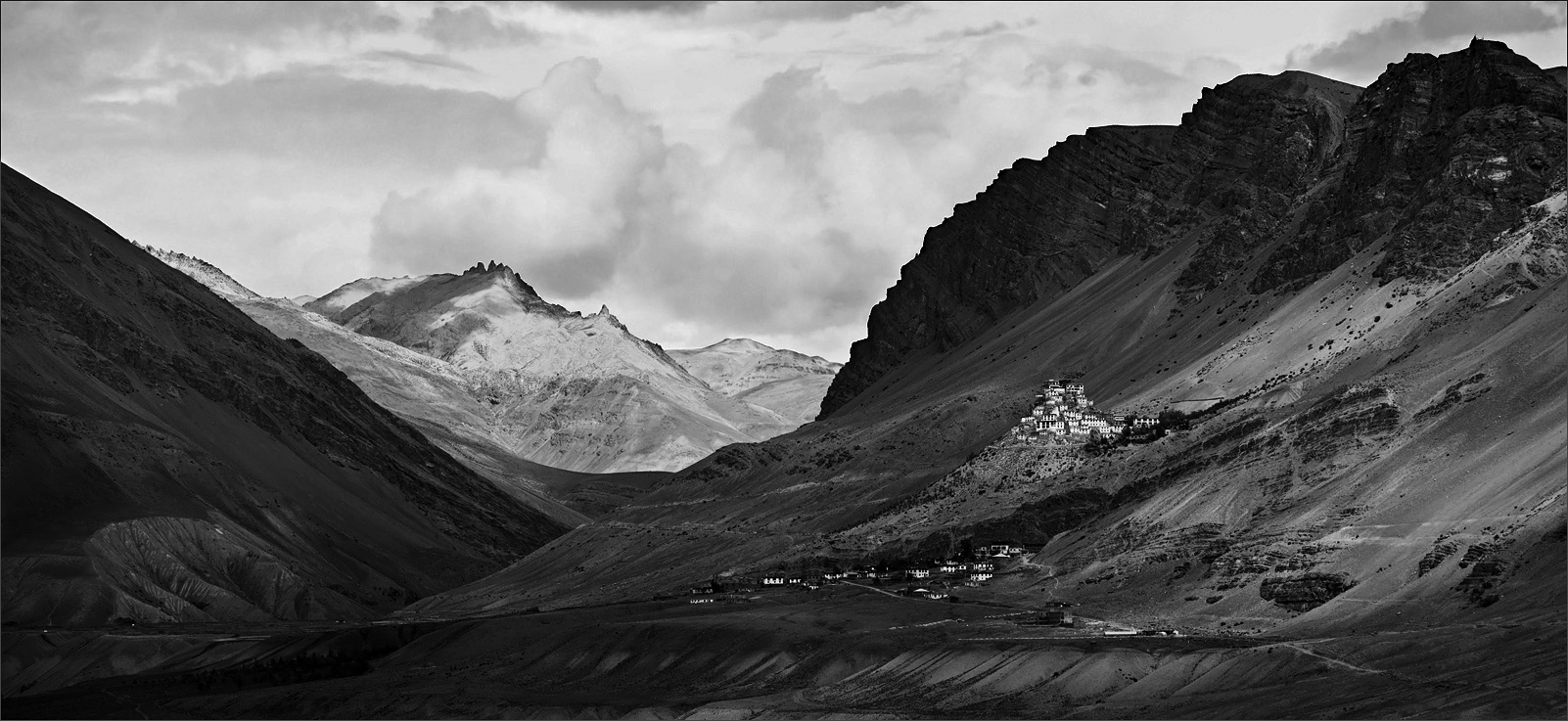 "photo ""The monastery Key in Spiti Valley"" tags: landscape, mountains"