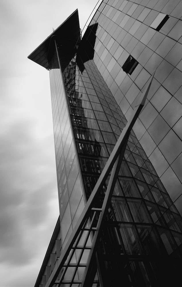 "photo ""Modern I"" tags: architecture, black&white, landscape,"