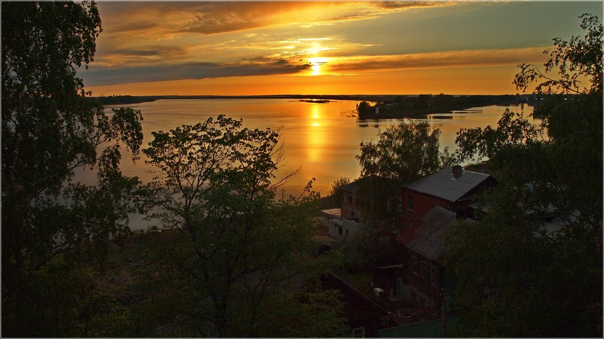 "photo ""Sunset on the Volga bank"" tags: landscape, sunset, water"