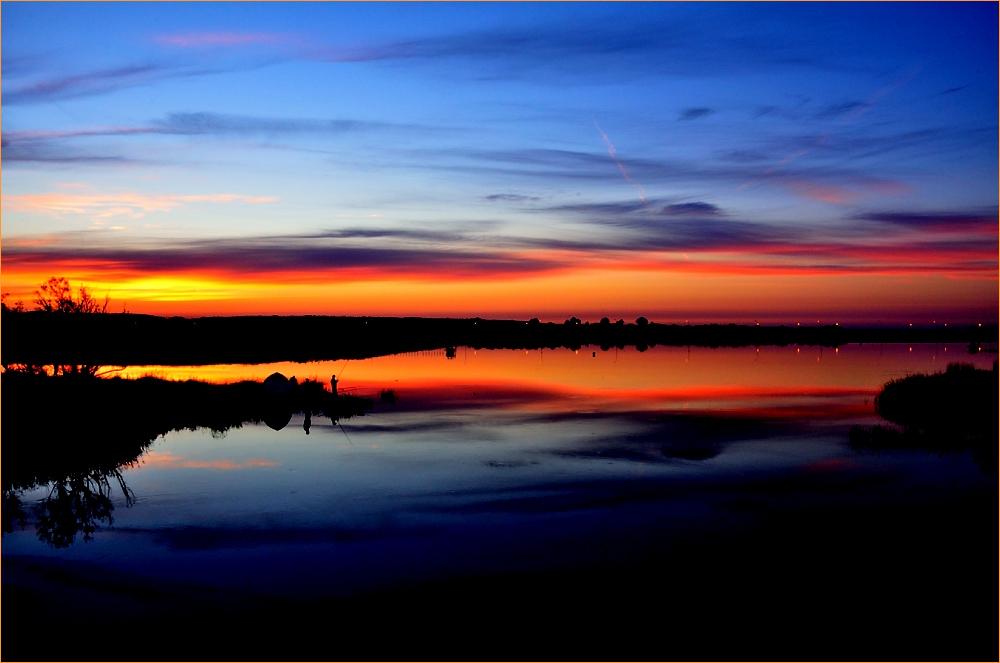 """фото """"рыбаки"""" метки: пейзаж, вода, закат"""