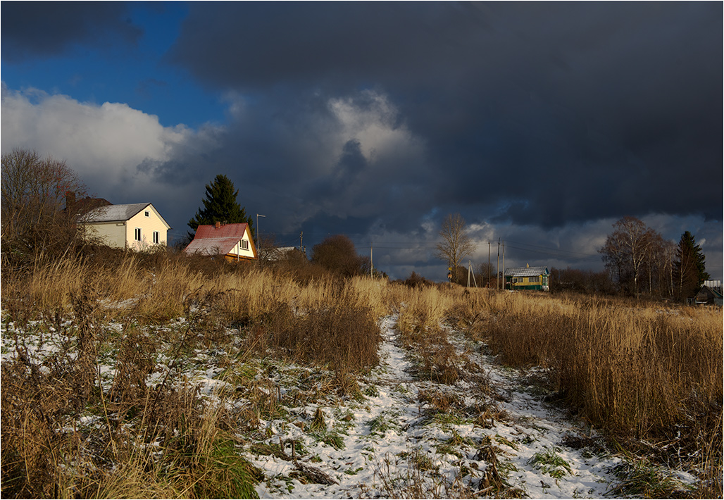 "photo ""First snow"" tags: landscape, autumn"