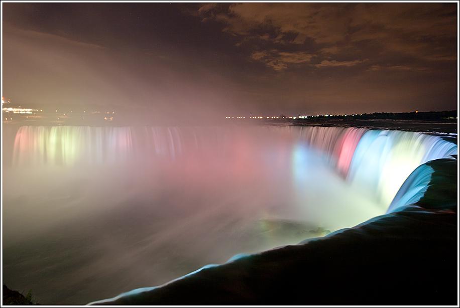 "фото ""Niagara at night"" метки: путешествия, пейзаж, Северная Америка, вода"