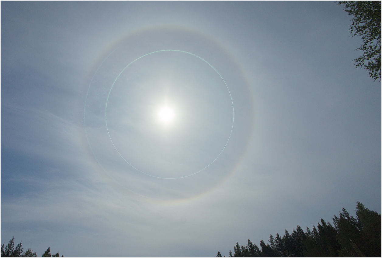 "photo ""solar halo"" tags: landscape, summer"