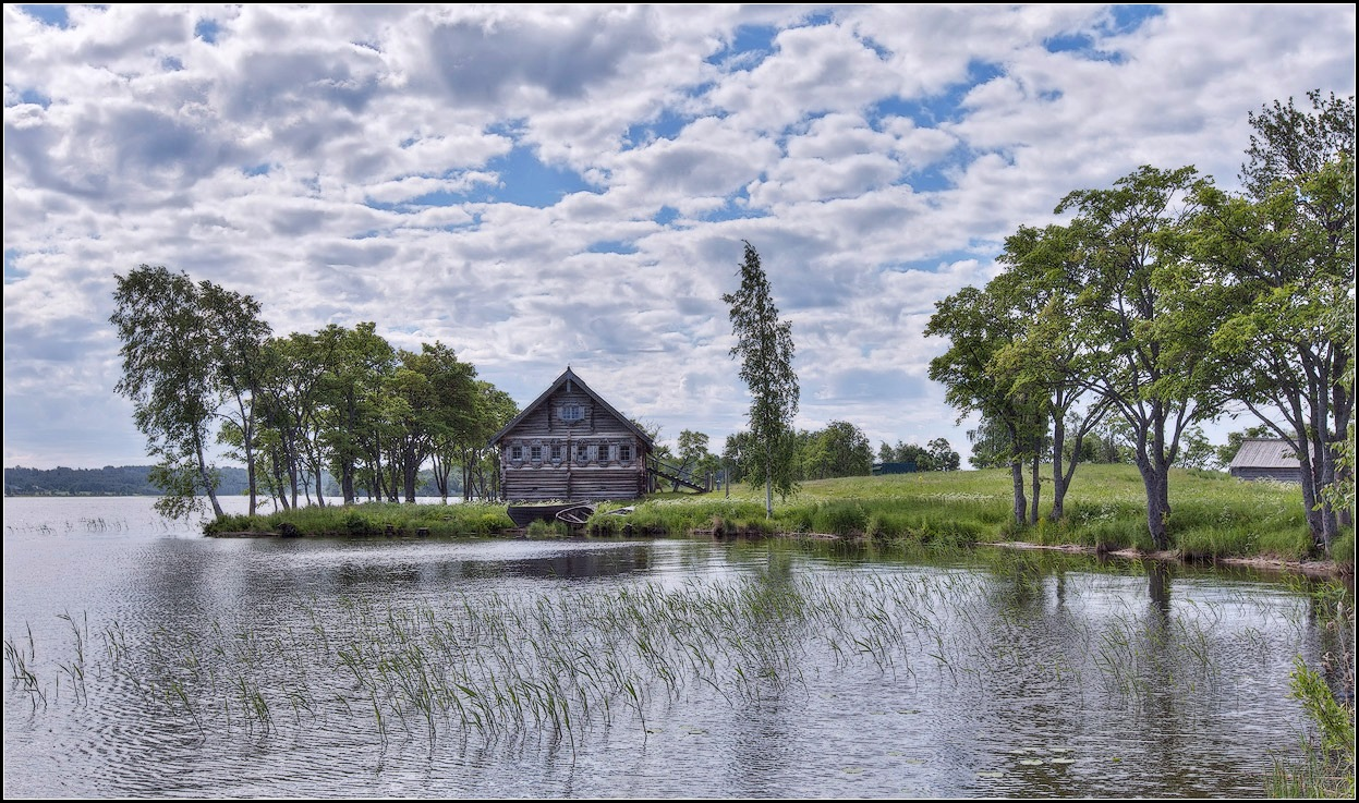 "photo ""house near the water"" tags: landscape, summer, water"