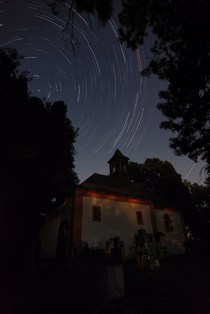 "photo ""Star trails"" tags: landscape, night"