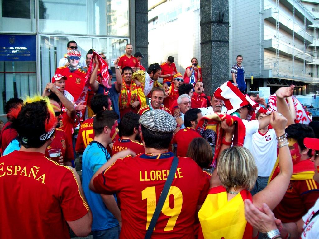 """фото """"Фанаты Испании"""" метки: репортаж,"""
