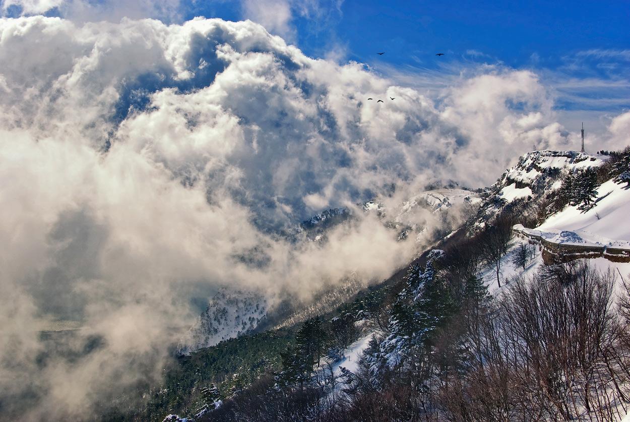 "фото ""Там, за облаками..."" метки: пейзаж, зима, облака"