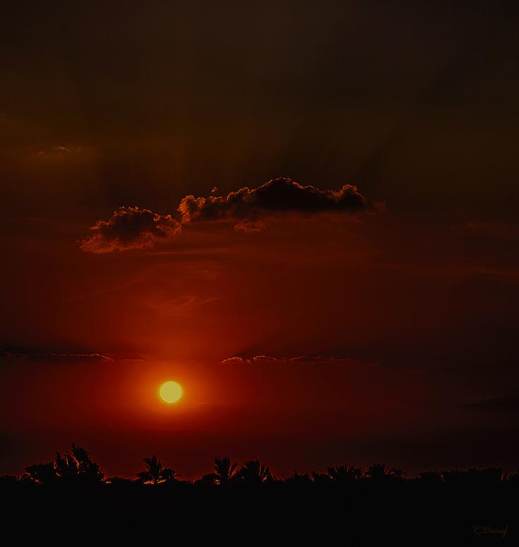 """фото """"Sunset"""" метки: путешествия, пейзаж, Африка, закат, облака"""