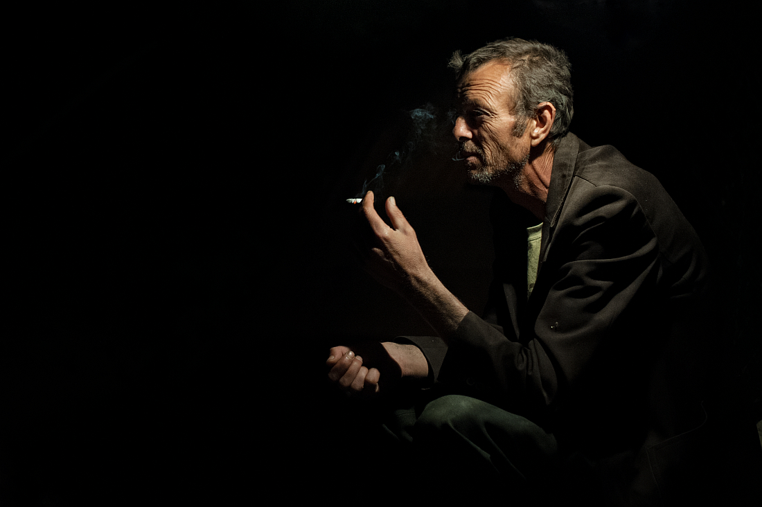 """photo """"Resting time"""" tags: portrait, old man, resting, resting time, smoking, smoking man"""