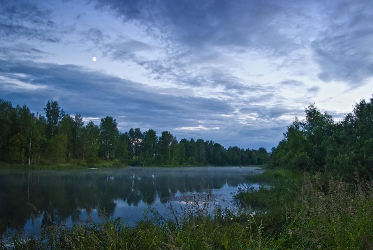 "фото ""Туман над водой"" метки: пейзаж, лето вода рыбалка вечер"